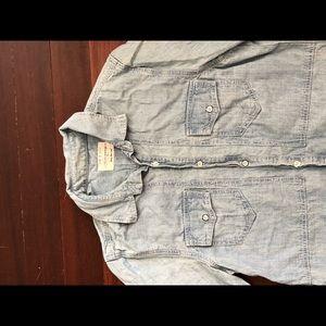 Men's Rag and Bone Button Down Denim Shirt